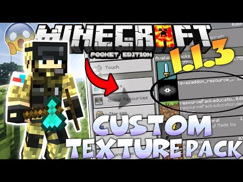 MINECRAFT PE 1.4.2 CUSTOM TEXTURE PACKS - HOW TO MAKE CUSTOM TEXUTRE PACKS IN MCPE 1.4.2 NO COMPUTER
