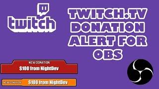 Twitch Donation Alert Tutorial Streamtip
