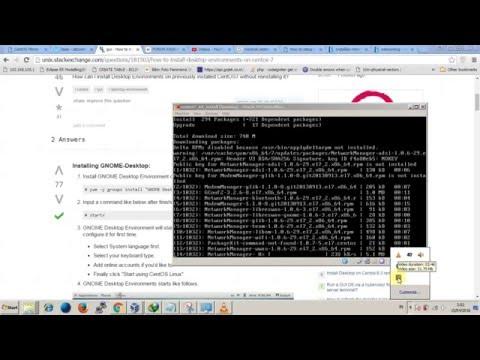 Centos 7 - Install GNOME Desktop in minimal Centos 7 64bit
