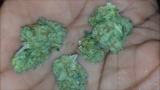 Grinding A Gram Of Weed Up Close