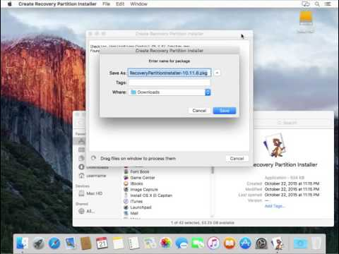 Building a recovery partition installer package using Create Recovery Partition Installer.app