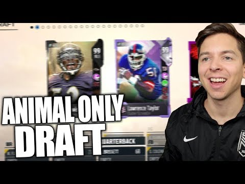 TRYING TO WIN THE DRAFT ONLY USING ANIMAL TEAMS! MADDEN DRAFT