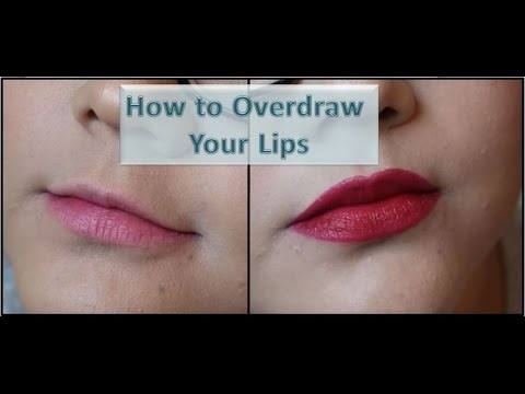 How I Overdraw My Lips | Making Small Lips Look Bigger