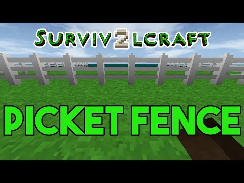 Survivalcraft 2: How to Build a Picket Fence