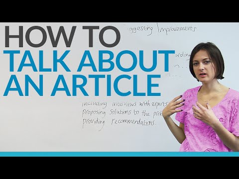 How to talk about an article in English