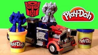 Play Doh Transformers Rescue Bots Optimus Prime Playset