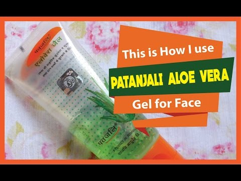 This is how I use Patanjali Aloe Vera Gel for Face   2 Easy Ways   Indian Mom on Duty