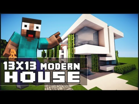 Minecraft House Tutorial: 13x13 Modern House