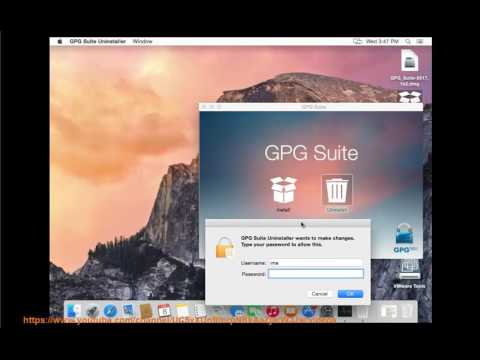 Uninstall GPG Suite 2017 on Mac without using any other uninstallers?