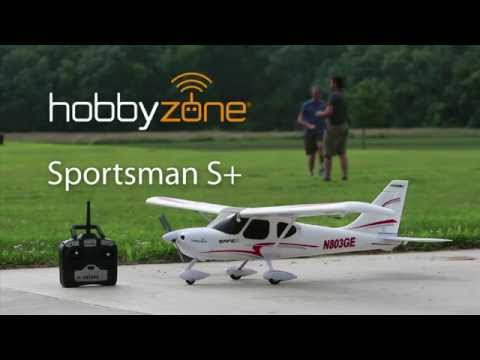 HobbyZone Sportsman S+ Teach-Yourself-To-Fly RC Airplane