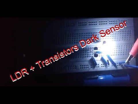 Simple dark sensor - photo resistor LDR 5537