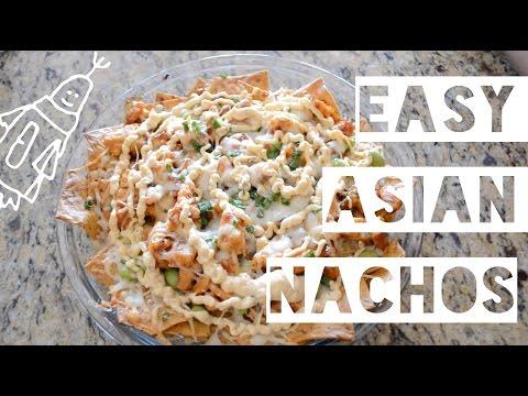 Super Easy Asian Chicken Nachos Recipe ft Bibigo Sauce