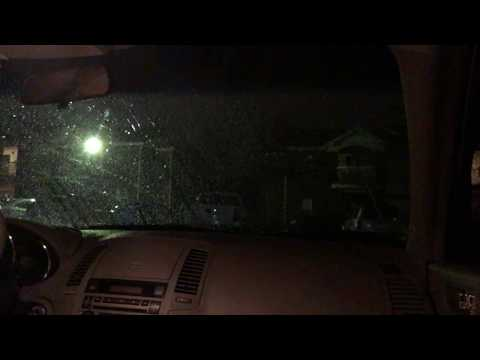 Silent driving in the rain