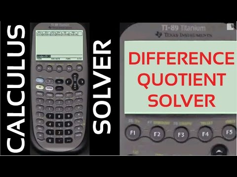 Difference Quotient Solver