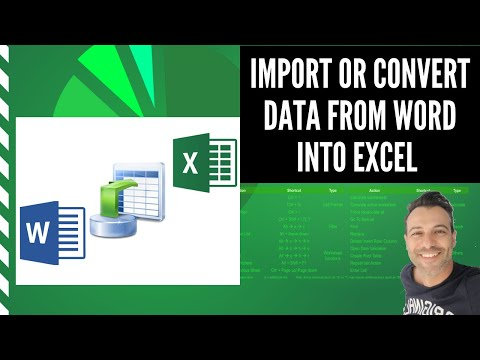 How to Import-Convert Data from Word Document into Excel worksheet