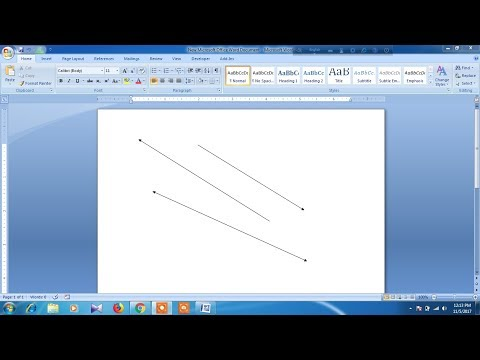 How to draw Arrow in microsoft word