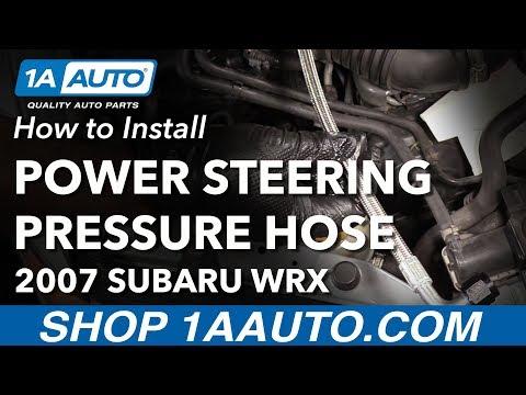 How to Replace Power Steering Pressure Hose 02-07 Subaru WRX