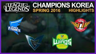 [Highlights] AF vs SSG & JAG vs SKT / W1D4 / LCK Spring 2016