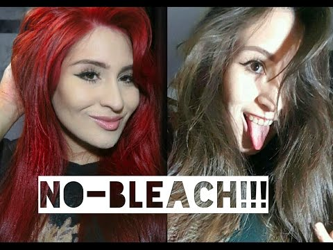 HOW TO DYE YOUR HAIR BRIGHT RED WITHOUT BLEACH AT HOME!!!
