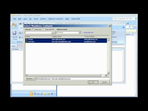 Create Mailing List or Distribution List in Outlook. Short&easy video