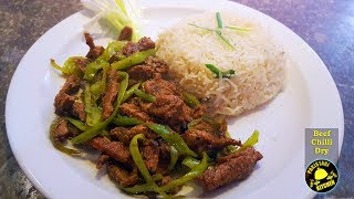 How to make Chinese DRY BEEF CHILLI & GARLIC RICE Recipe with Pakistani Touch