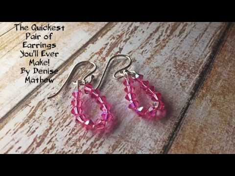 Super Fast and Easy DIY Earrings by Denise Mathew