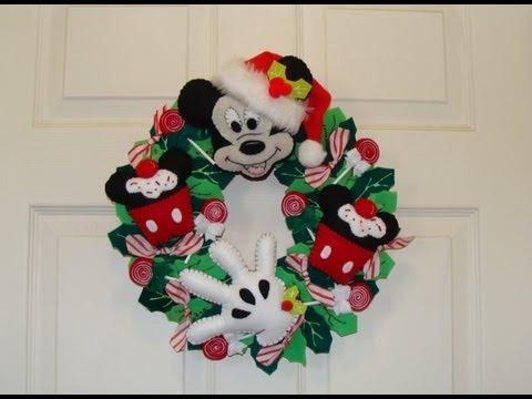 DIY-  CORONA NAVIDEÑA DE MICKEY MOUSE/  Mickey´s christmas wreath