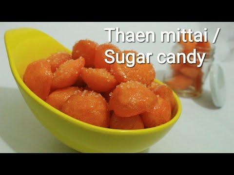 Thaen mittai - Sweet candy - South Indian sweet candies -  Thaen mittai recipe
