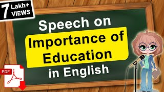 Speech on Importance of Education in English