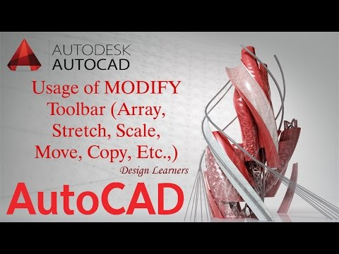 Autocad Basics | Usage of Modify Toolbar (Array, Stretch, etc.,) | For Beginners!