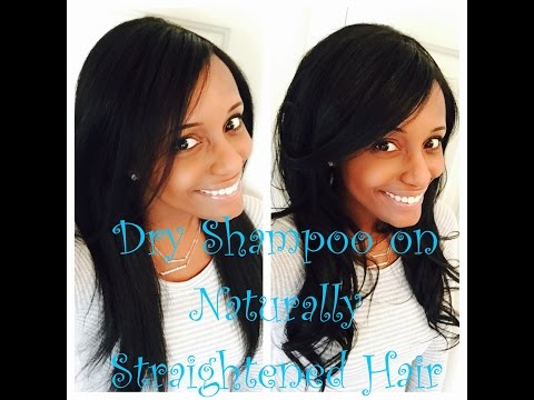 Dry Shampoo on natural Hair (Reviving Straight Hair)