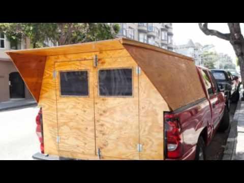 Man Designs/Builds Wooden Micro Truck Camper