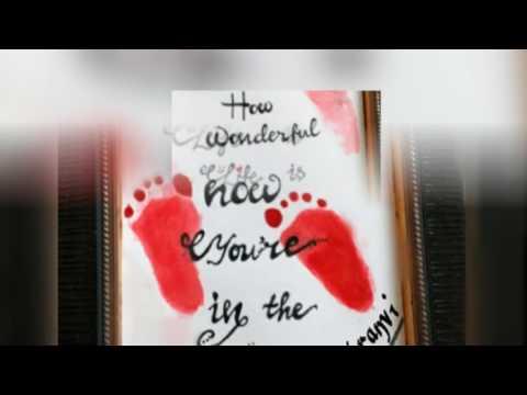 DIY Baby hand and footprints idea