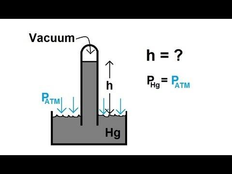 Physics - Fluid Statics (6 of 10) The Barometer