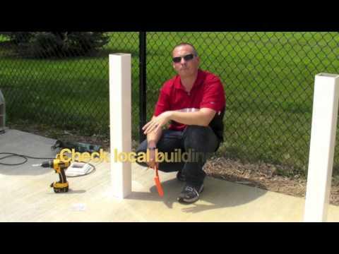 Railing & Concrete Mount Installation