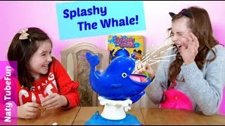 Playing Splashy the Whale- Funny Challenge Toy Game with Creative Celeste