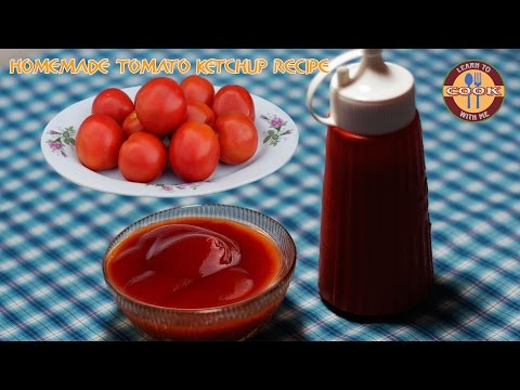How to make perfect Tomato Ketchup @ Home | Sweet & Spicy homemade tomato sauce