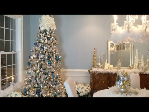 How to Create a Beautiful Winter Wonderland Christmas Tree with Lisa Robertson  (Full Length)