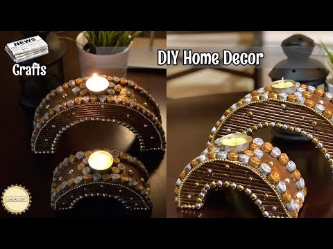 How to make newspaper centerpiece  | Recycle your old Cardboard and Newspaper | Best out of waste