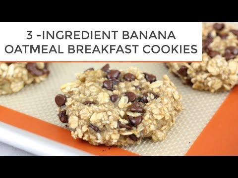 3-Ingredient Banana Oatmeal Breakfast Cookies
