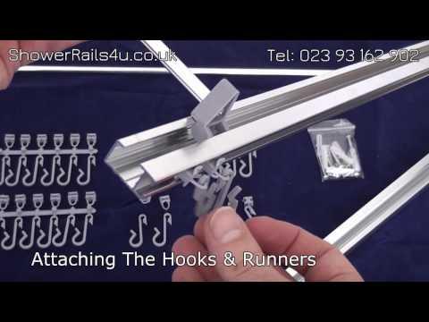 Aqualona Profile Shower Curtain Rail - ShowerRails4u.co.uk
