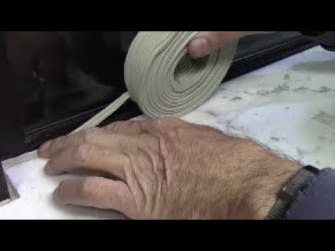 Rope caulk stops windows and door drafts easier than weatherstripping