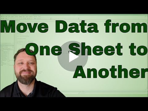 Moving or Copying Data from one Worksheet to another Worksheet using VBA in Excel - Code Included