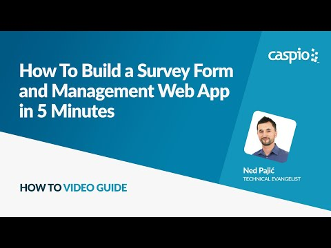 How To Build a Survey Form and Management Web App in 5 Minutes