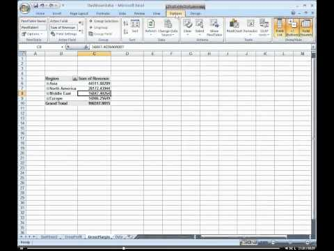 How to create a custom Gross Margin report with a Pivot Table