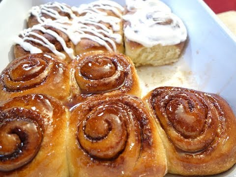 Cinnamon Buns with Special ingredient!  Maple Glaze or Cream Cheese?