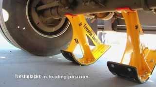 TrestleJacks   Lifting a trailer link in 7 minutes