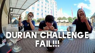 I took on the Durian Challenge in Davao City! It wasn't pretty! LOL