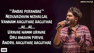 Anbae Peranbae Song_Lyrics | Sid Sriram | NGK | Shreya Ghoshal [ Clean Lyrics ]
