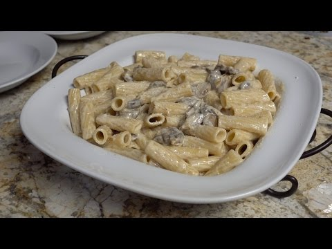 Mushroom and Marscapone Rigatoni Recipe and How To